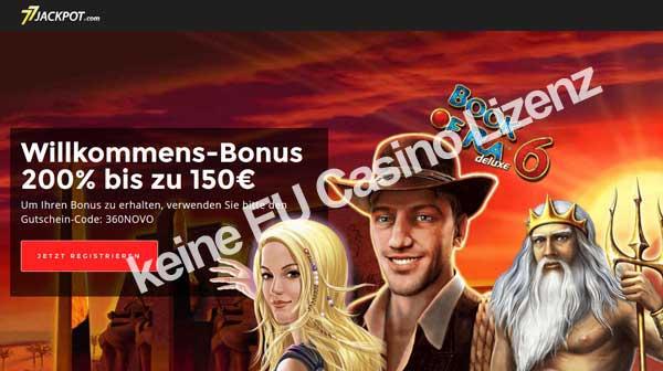 Unseriöses Novoline online Casino 77 Jackpot