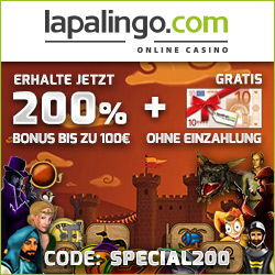 Lapalingo Casino wie eine Spielhalle mit 800 Slots