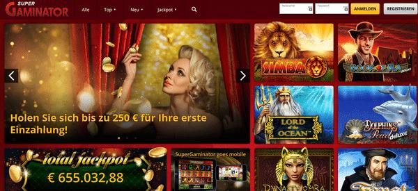 Novoline online im Supergaminator Casino spielen
