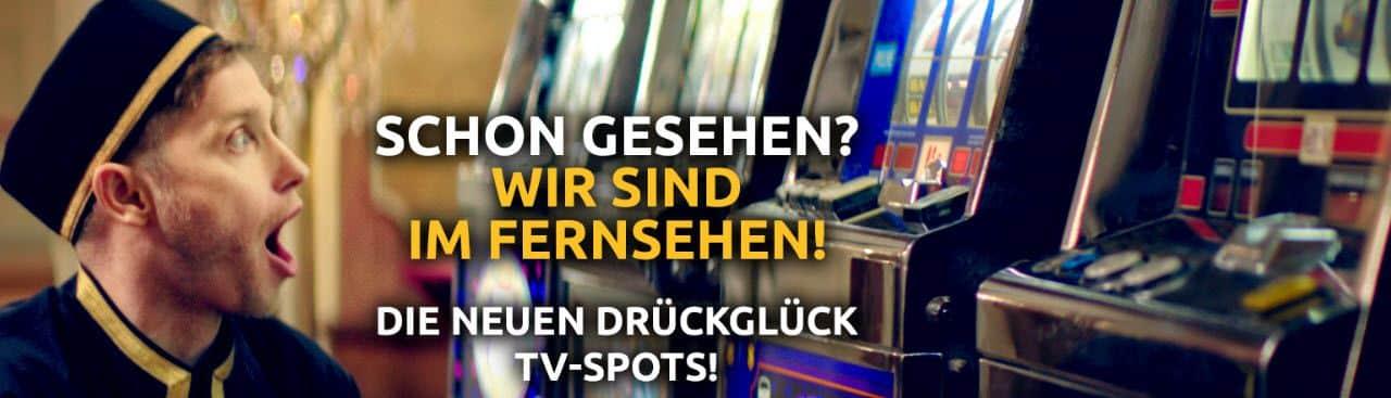 Drück Glück Casino mit Fernsehwerbung