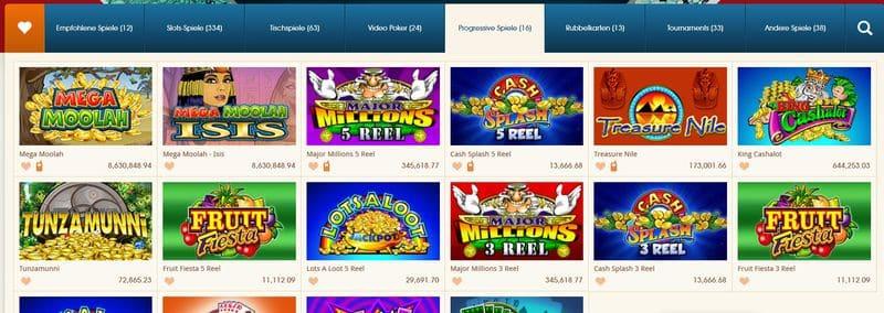 Jackpots und Angebot im Royal vegas Casino