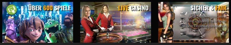 Angebot im Casino Cruise