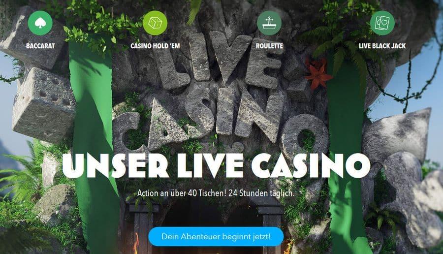 Live Casino im Wunderino Casino