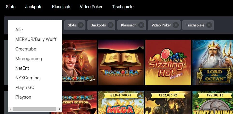 Viks Casino Spieleanbieter