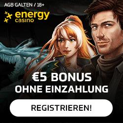 Enegrycasino 5 Euro ohne Einzahlung Bonus