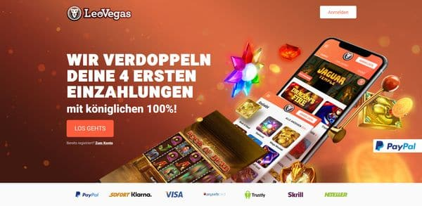 Leo Vegas online Casino Startbonus neues Angebot