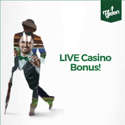 Mr Green online casino banner start mit bonus