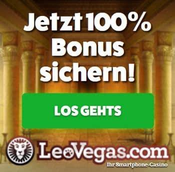 Startbildschirm Leo Vegas Casino Jetzt Bonus sichern