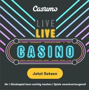 Casumo Casino Startbildschirm live casino Spiele