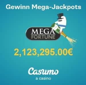 Casumo Casino Startbildschirm mega jackpot spiele