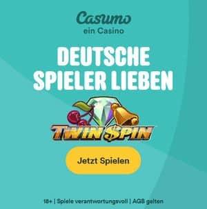 Casumo Casino Startbildschirm twin spin deutsche Spieler