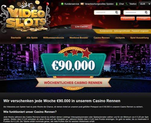 Videoslots online Casino Renner Turnier mit 90000€ zu gewinnen 500
