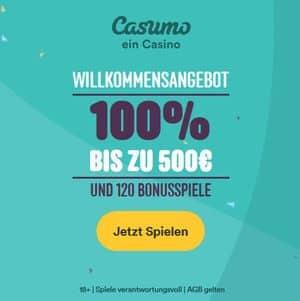 Willkommensangebot im Casumo online Casino mit 500 Euro startbonus