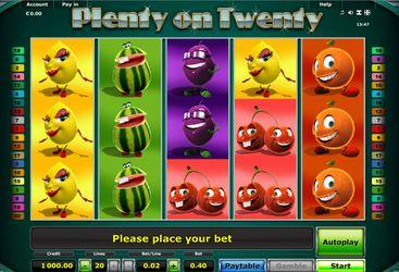 Novoline Casino Spiel 021 plenty on twenty